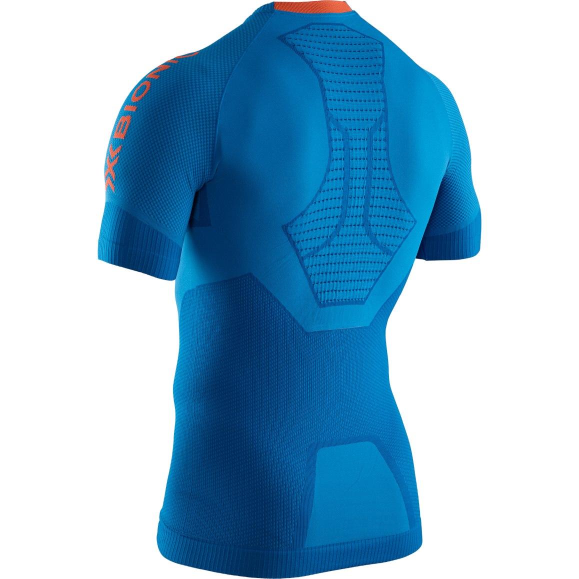 Bild von X-Bionic Invent 4.0 Run Speed Kurzarm-Laufshirt für Herren - teal blue/kurkuma orange RT-RT00S19M-A005
