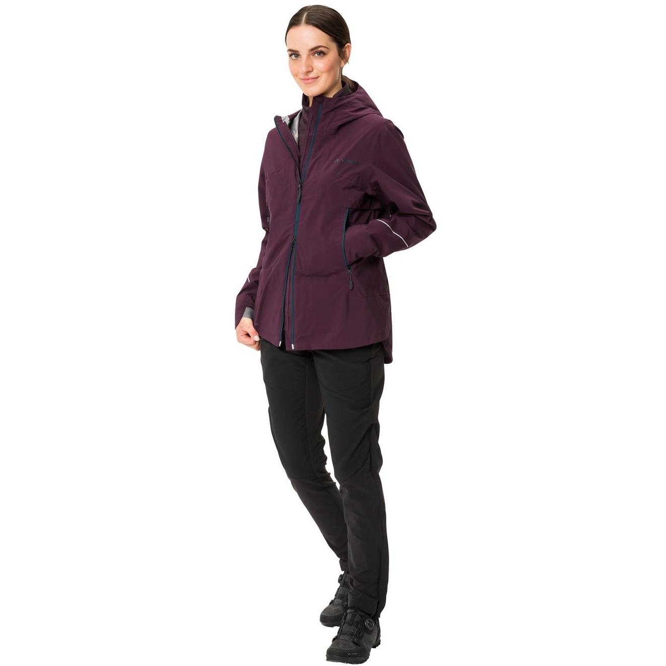 Image of Vaude Women's Yaras 3in1 Jacket - cassis
