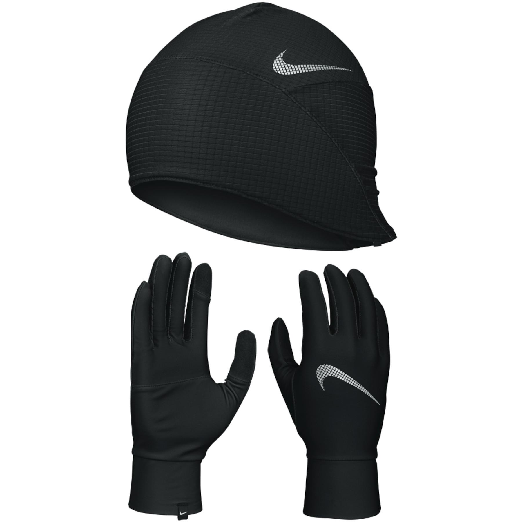Foto de Nike Essential Running Guantes y gorra de correr para hombres - black/black/silver 082