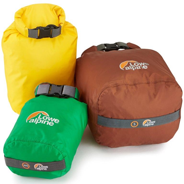 Lowe Alpine Drysac (multipack) stuff sack - mixed