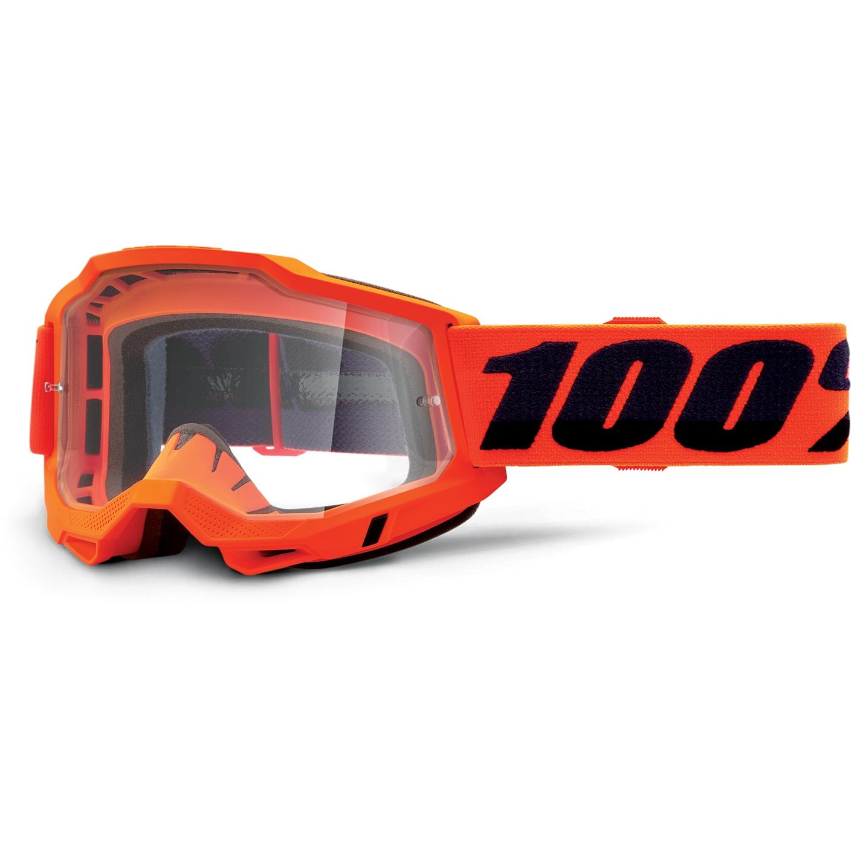 Imagen de 100% Accuri 2 Goggle Clear Lens Gafas - Neon Orange