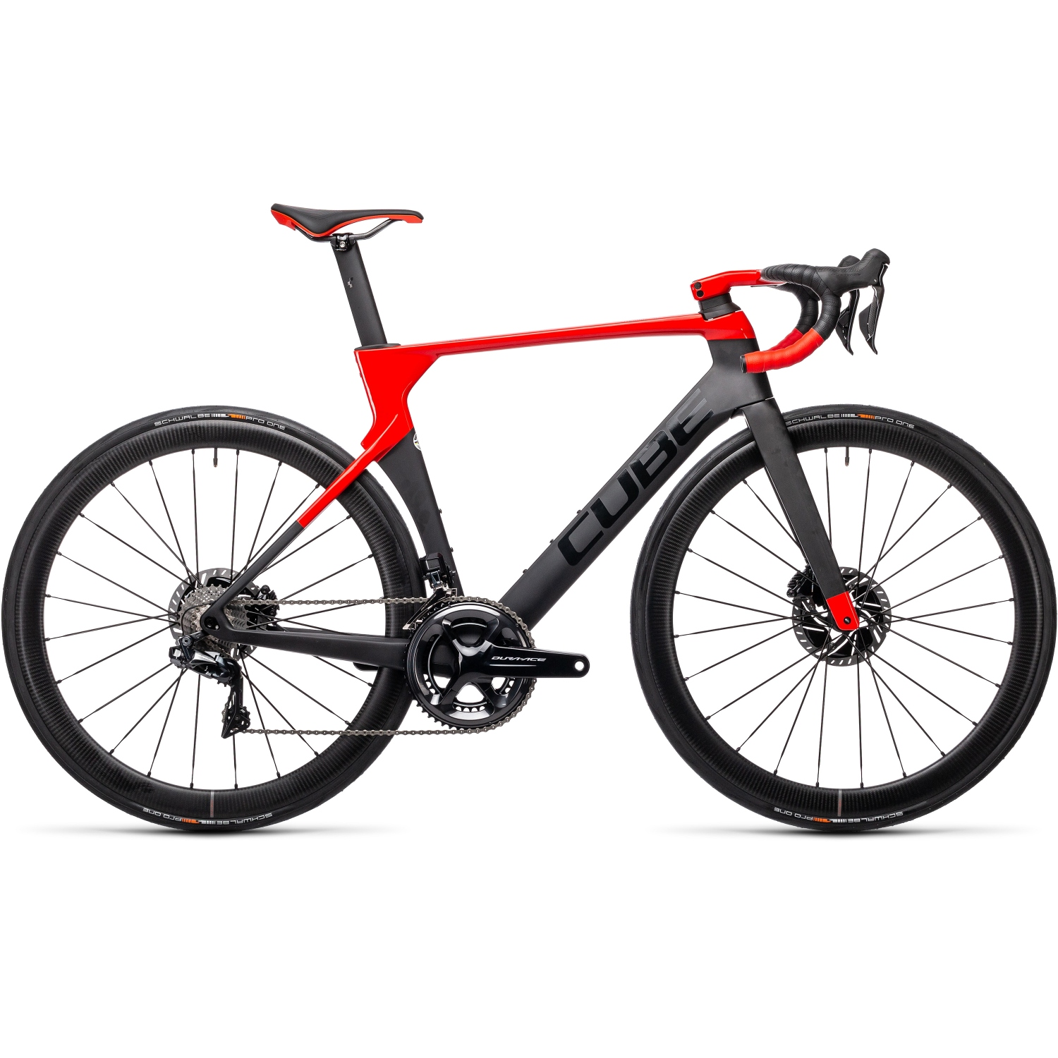 Image of CUBE LITENING C:68X SL Dura Ace Di2 - Carbon Roadbike - 2021 - carbon/red