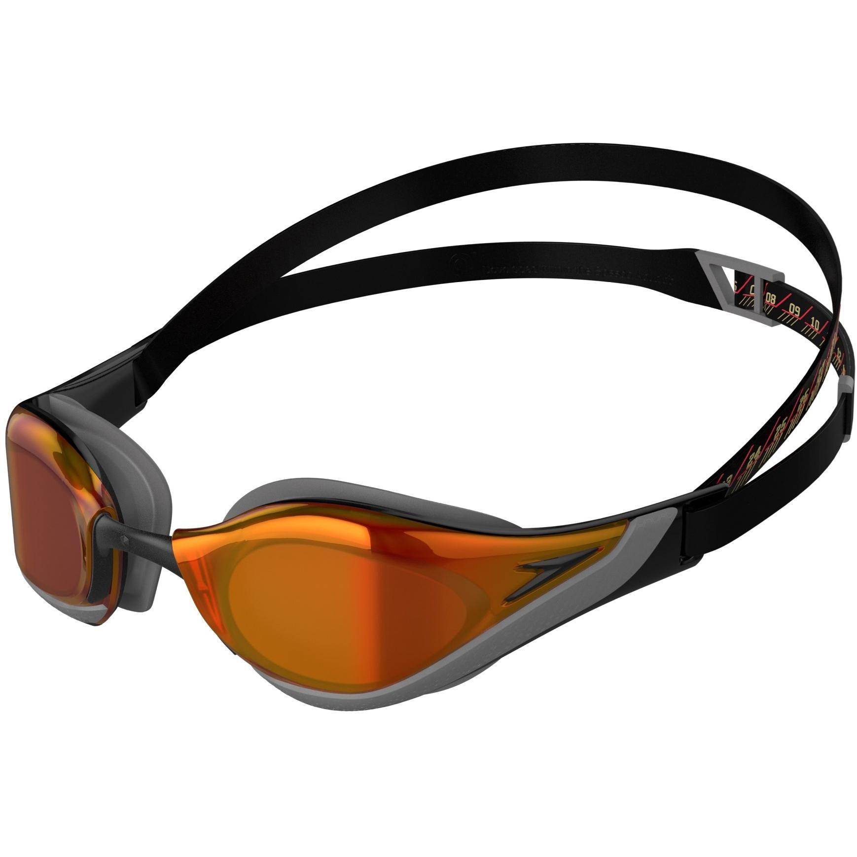Produktbild von Speedo Fastskin Pure Focus Mirror Schwimmbrille - black/orangegold