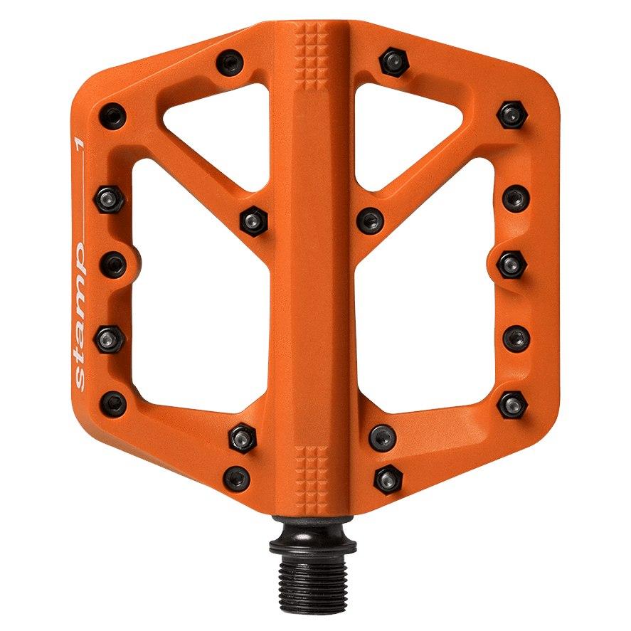 Crankbrothers Stamp 1 Small Flat Pedal - Splash Edition - orange