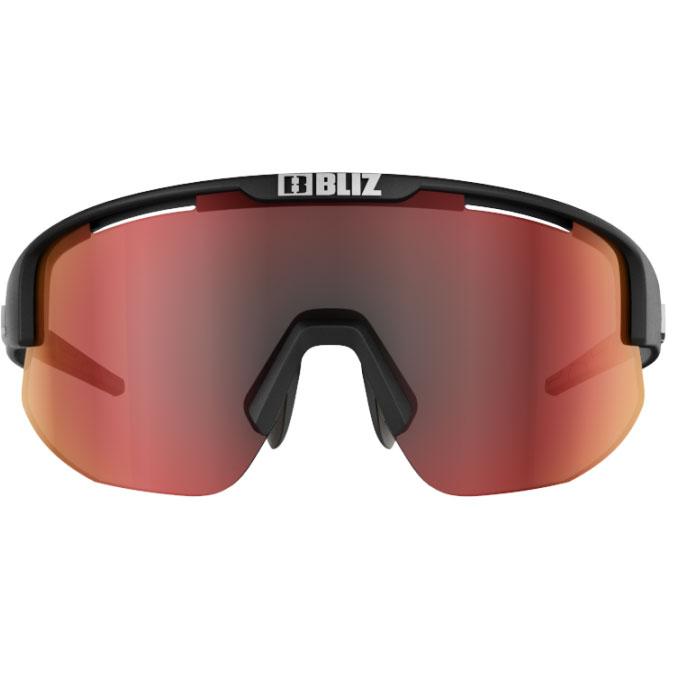 Image of Bliz Matrix Glasses - Matt Black / Brown with Red Multi