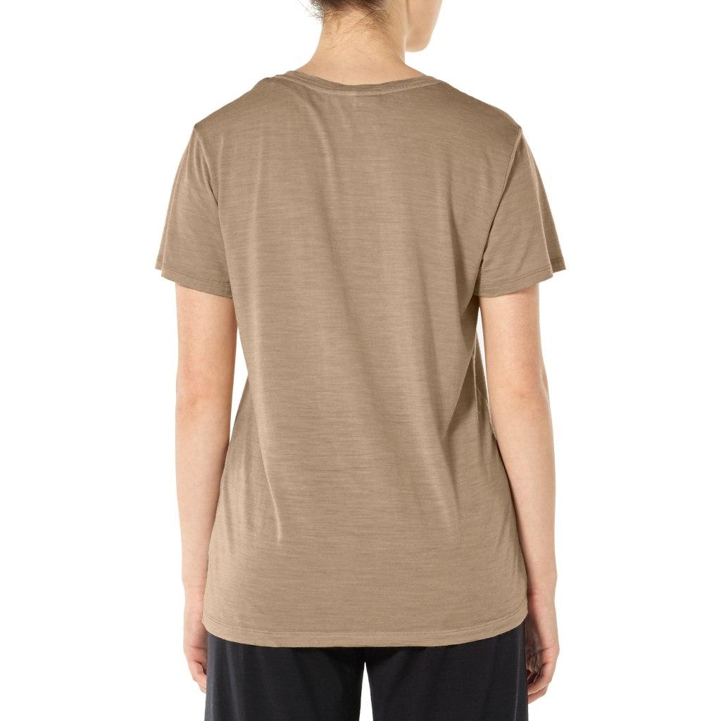 Bild von Icebreaker Nature Dye Drayden Pocket Crewe Damen T-Shirt - Madder Root