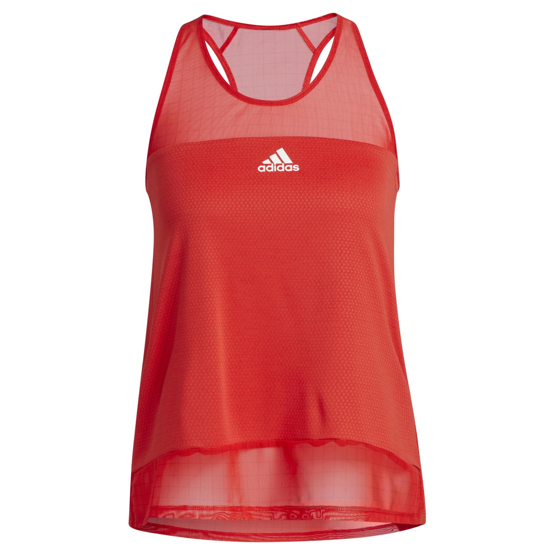 adidas Women's Training HEAT.RDY Mesh Tanktop - vivid red H50820