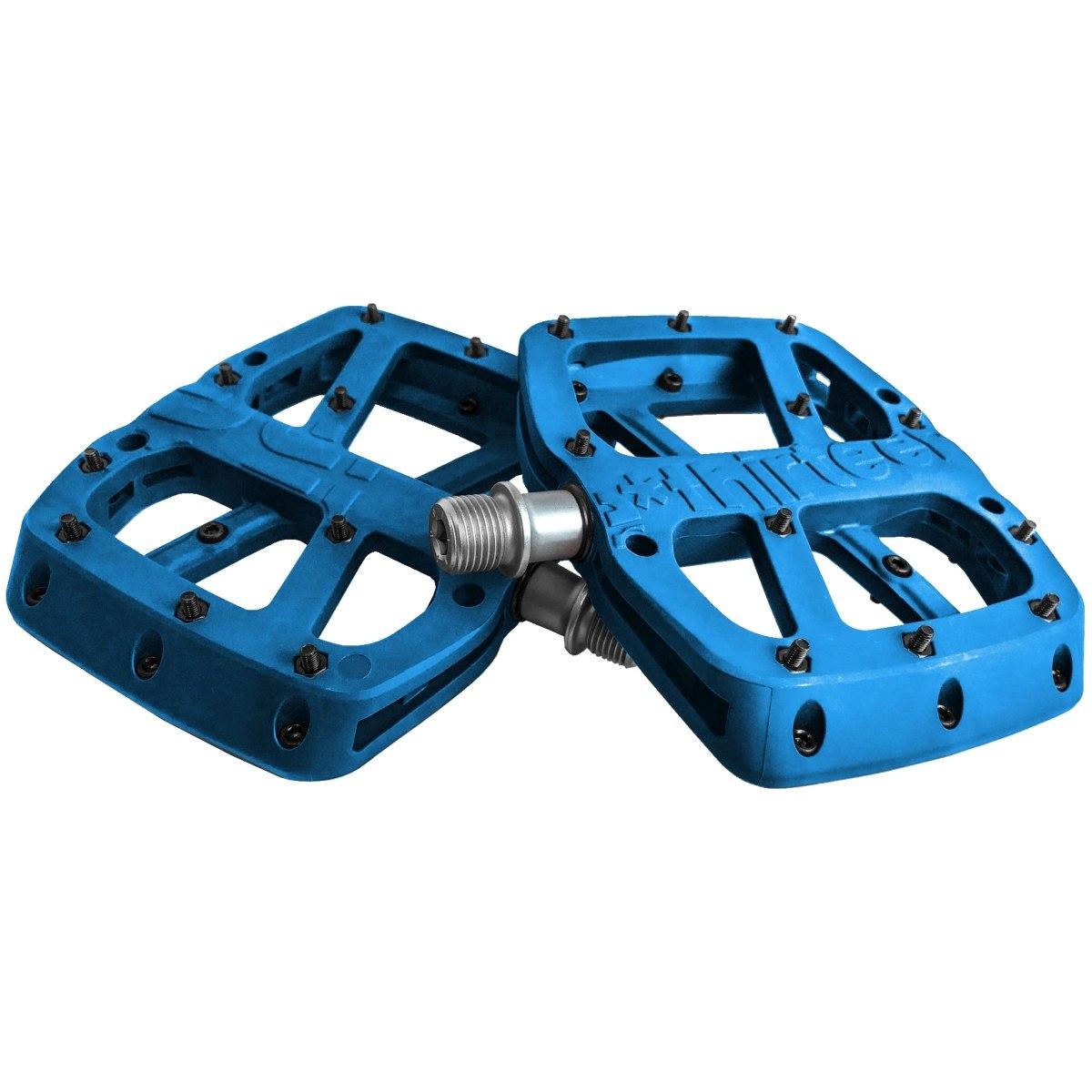 e*thirteen Base Flat Pedal - blue