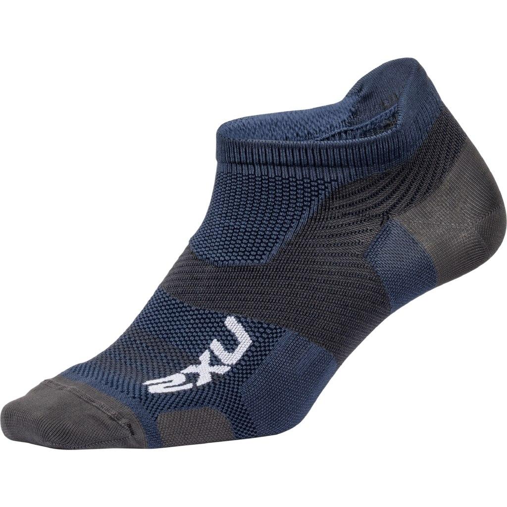 2XU Men's Vectr Ultralight No Show Sock - navy/grey