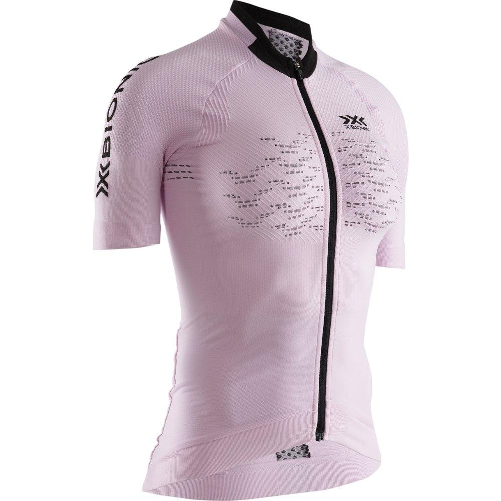 X-Bionic The Trick 4.0 Bike Full Zip Short Sleeves Shirt for Women - magnolia purple/opal black