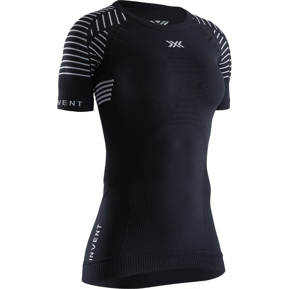 X-Bionic Invent 4.0 LT Shirt Rundhals Kurzarm-Unterhemd für Damen - opal black/arctic white
