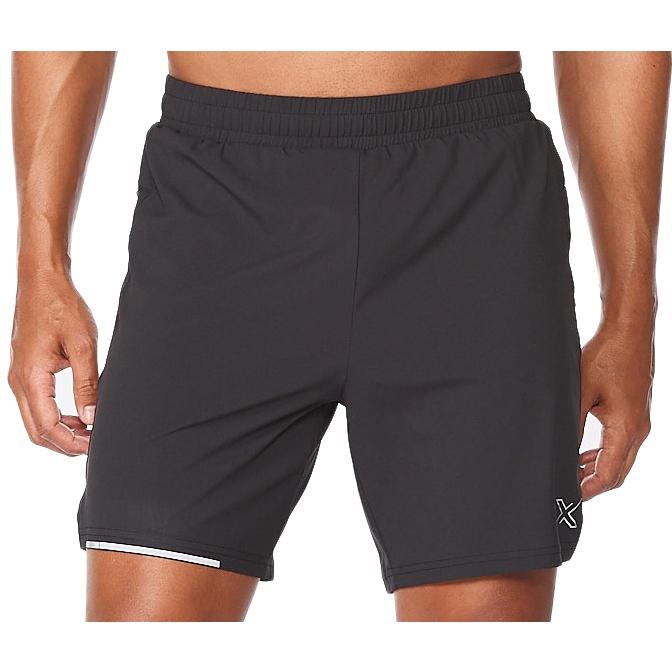 "2XU Aero 7"" Pantalon corto de correr - black/silver reflective"