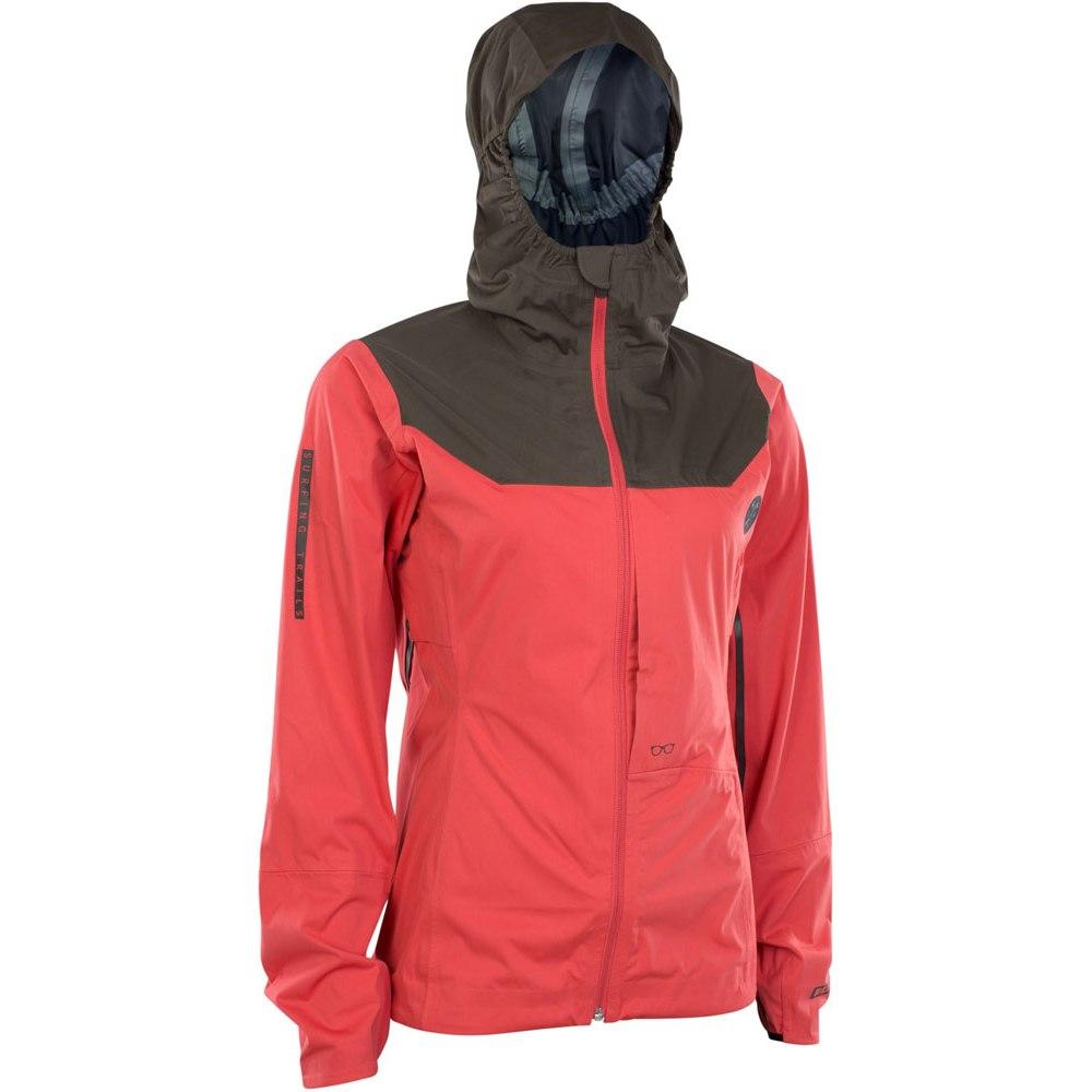 Produktbild von ION Bike 3 Lagen Regenjacke Scrub Amp Damen - Pink Isback