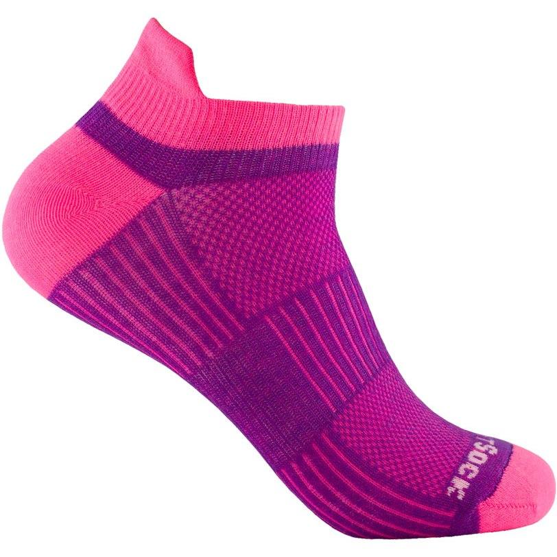 WRIGHTSOCK Coolmesh II Low Tab Double Layer Socks - plum-pink - 803-24