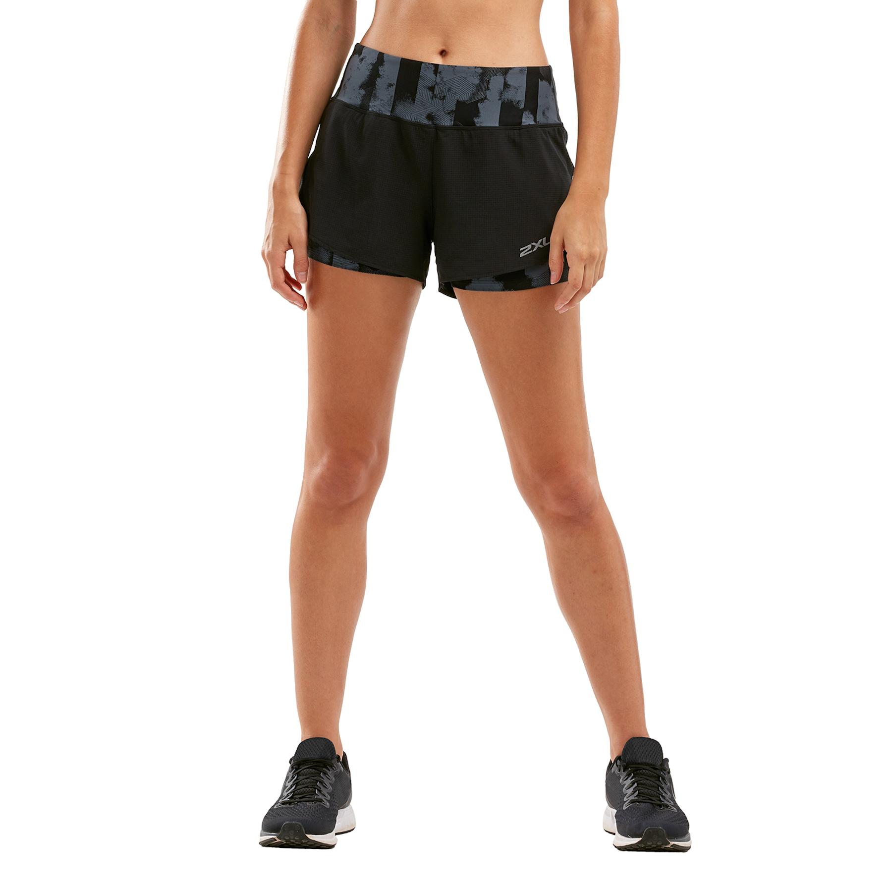"""Imagen de 2XU XVENT 3"""" Layer Shorts Women - geo stripe/turbulence"""