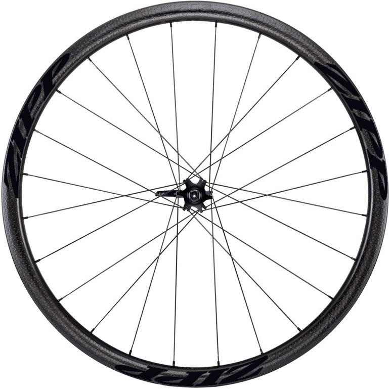 ZIPP 202 Firecrest Tubular 6-Hole Disc Carbon Front Wheel - 12/15x100mm / QR - Matte Black