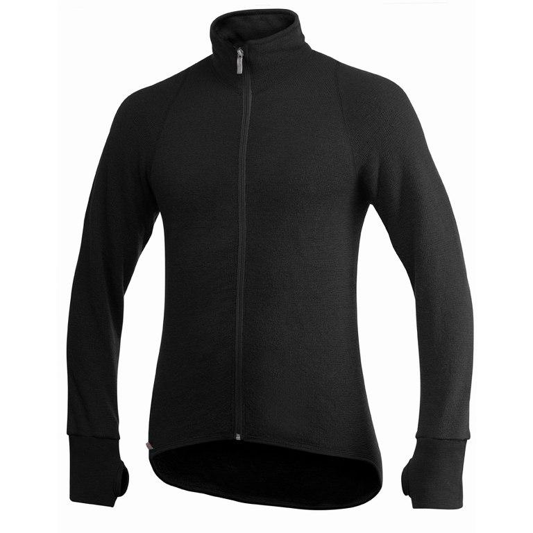 Woolpower Full Zip Thermo-Jacke Jacket 600 - schwarz