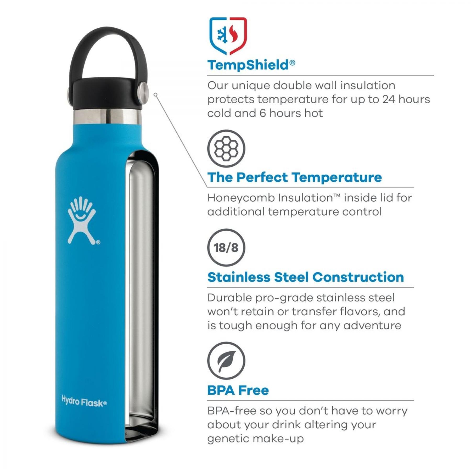 Bild von Hydro Flask 24oz Standard Mouth Flex Cap Thermoflasche 710ml - Rain