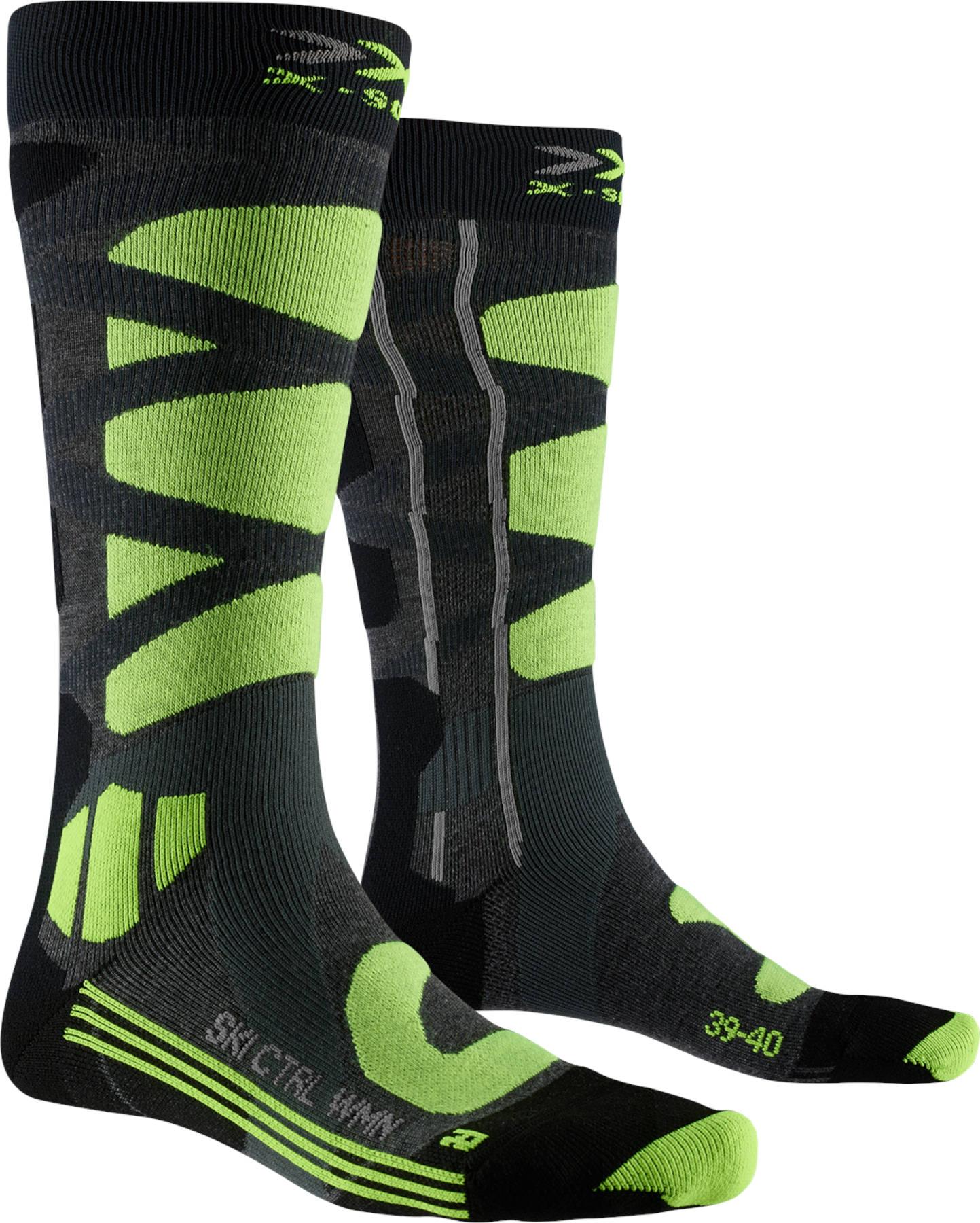 X-Socks Ski Control 4.0 Socks for Women - mid grey melange/phyton yellow