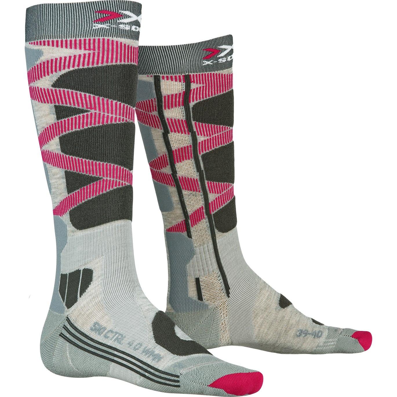 X-Socks Ski Control 4.0 Socks for Women - grey melange/charcoal