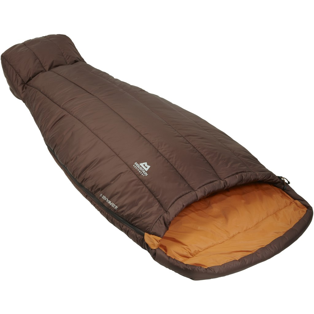 Image of Mountain Equipment Sleepwalker III Womens Sleeping Bag ME-003600 - Dark Chocolate/Blaze