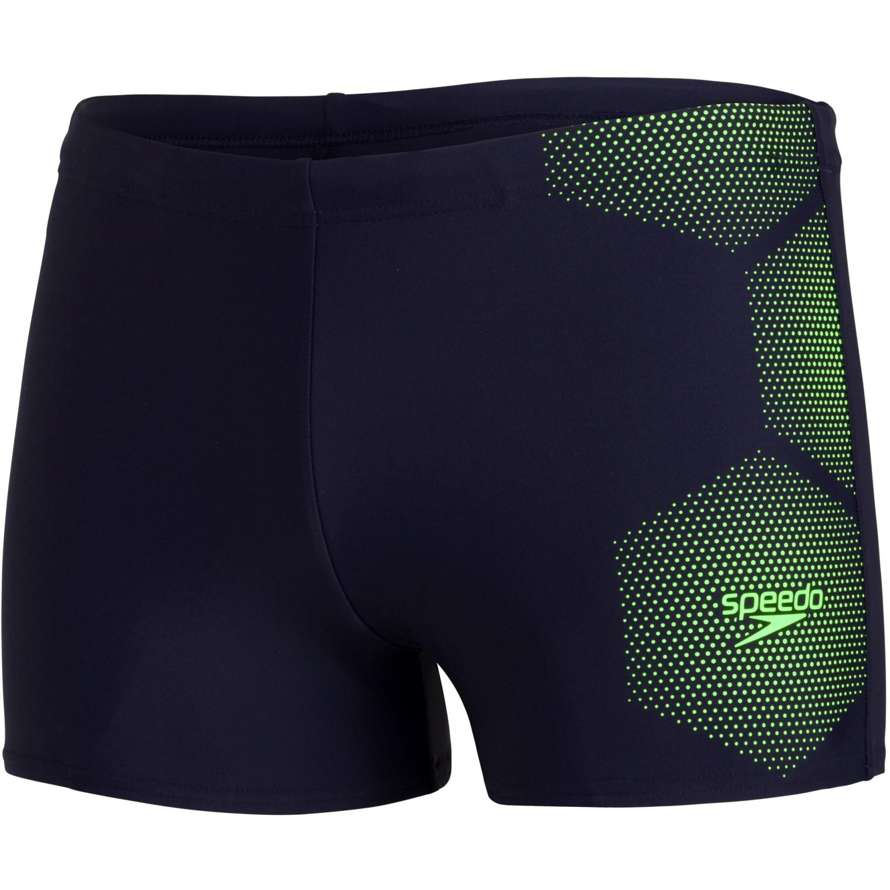 Speedo Tech Placement Aquashort Badehose - true navy/zest green