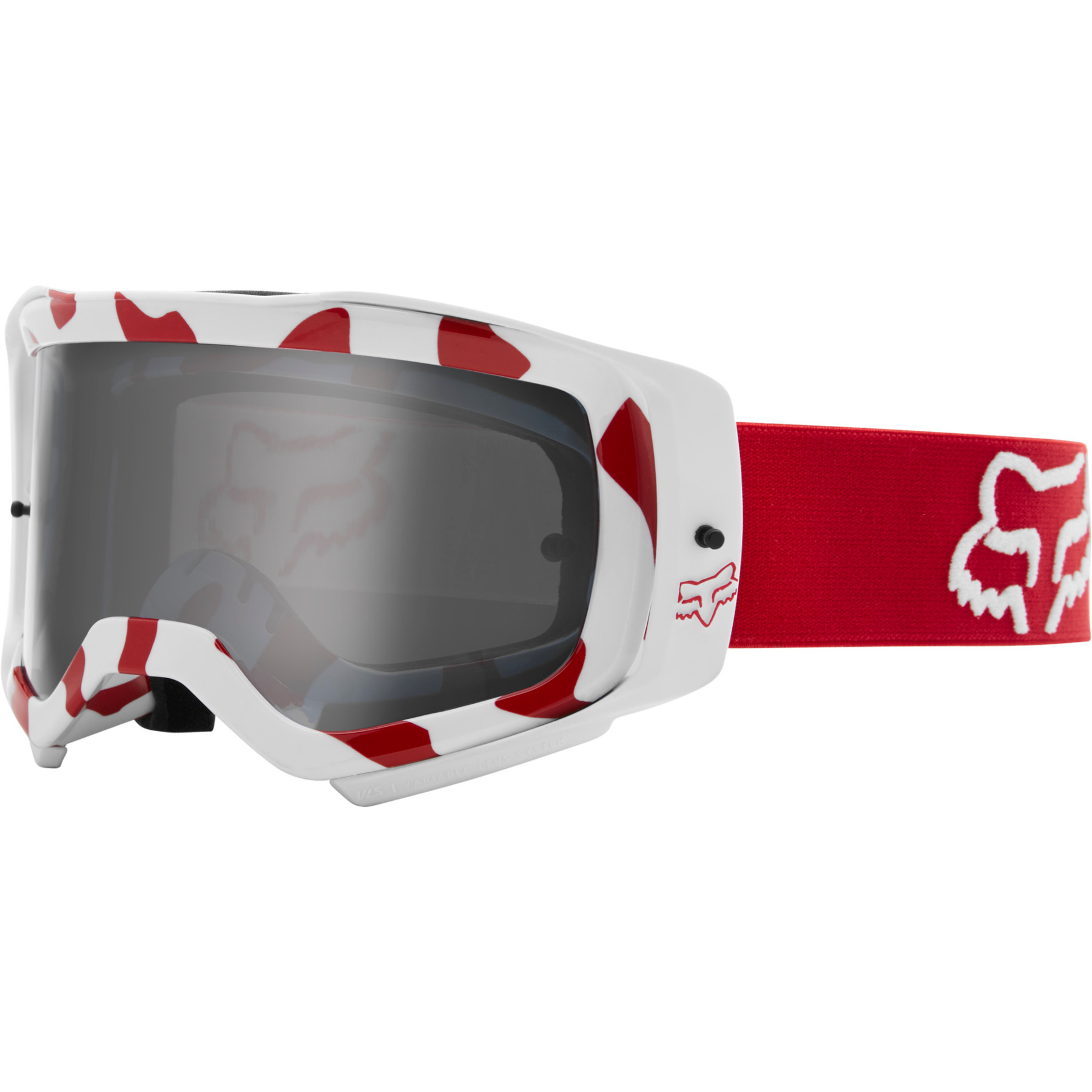 FOX Airspace Stray Race Goggle - flame red - non mirrored
