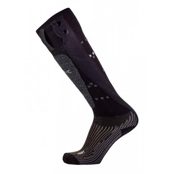 therm-ic PowerSock Heat Uni V2 Kids Beheizbare Socken - Black Snow Pattern