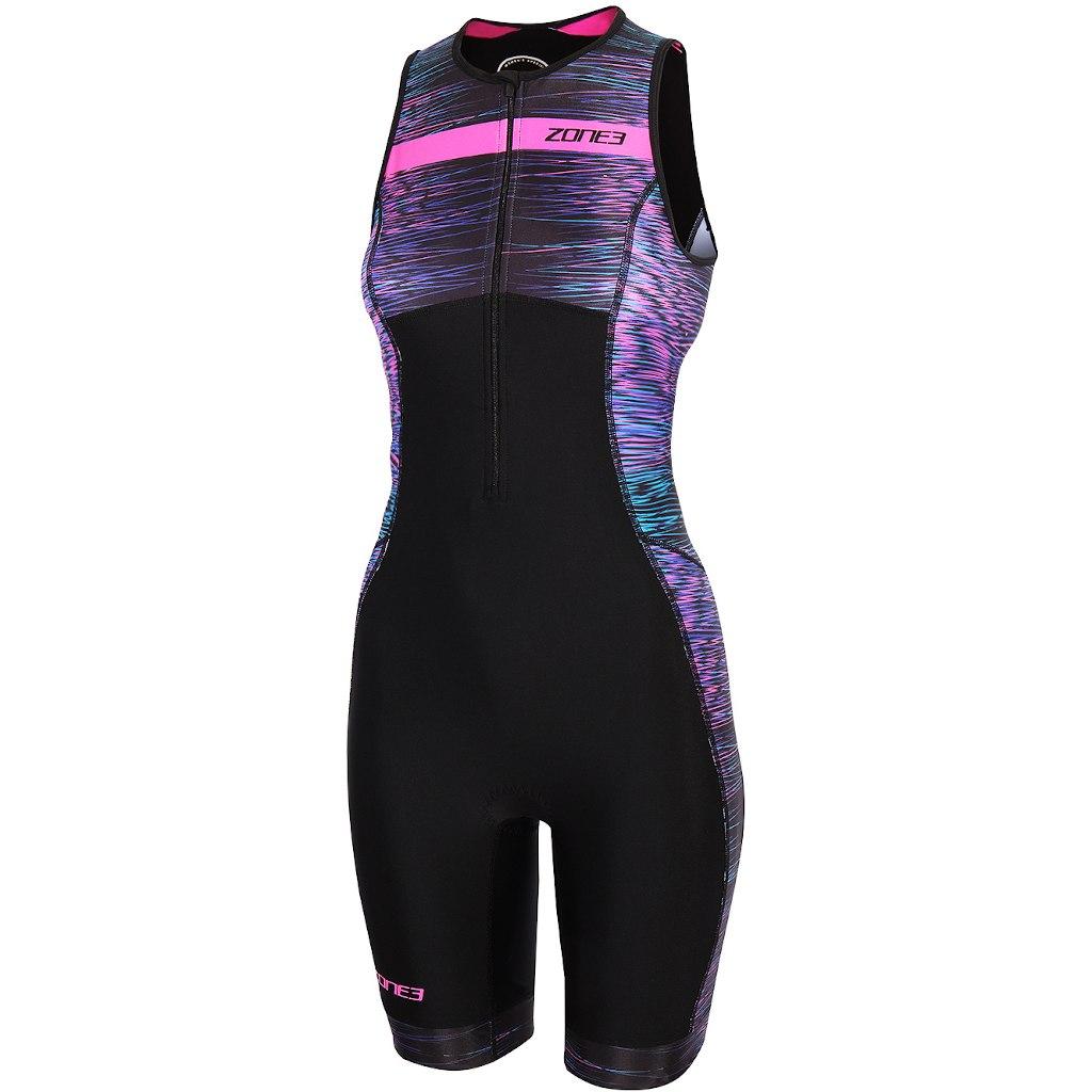 Zone3 Activate Plus Momentum Damen Ärmelloser Triathlonanzug - black/blue/pink