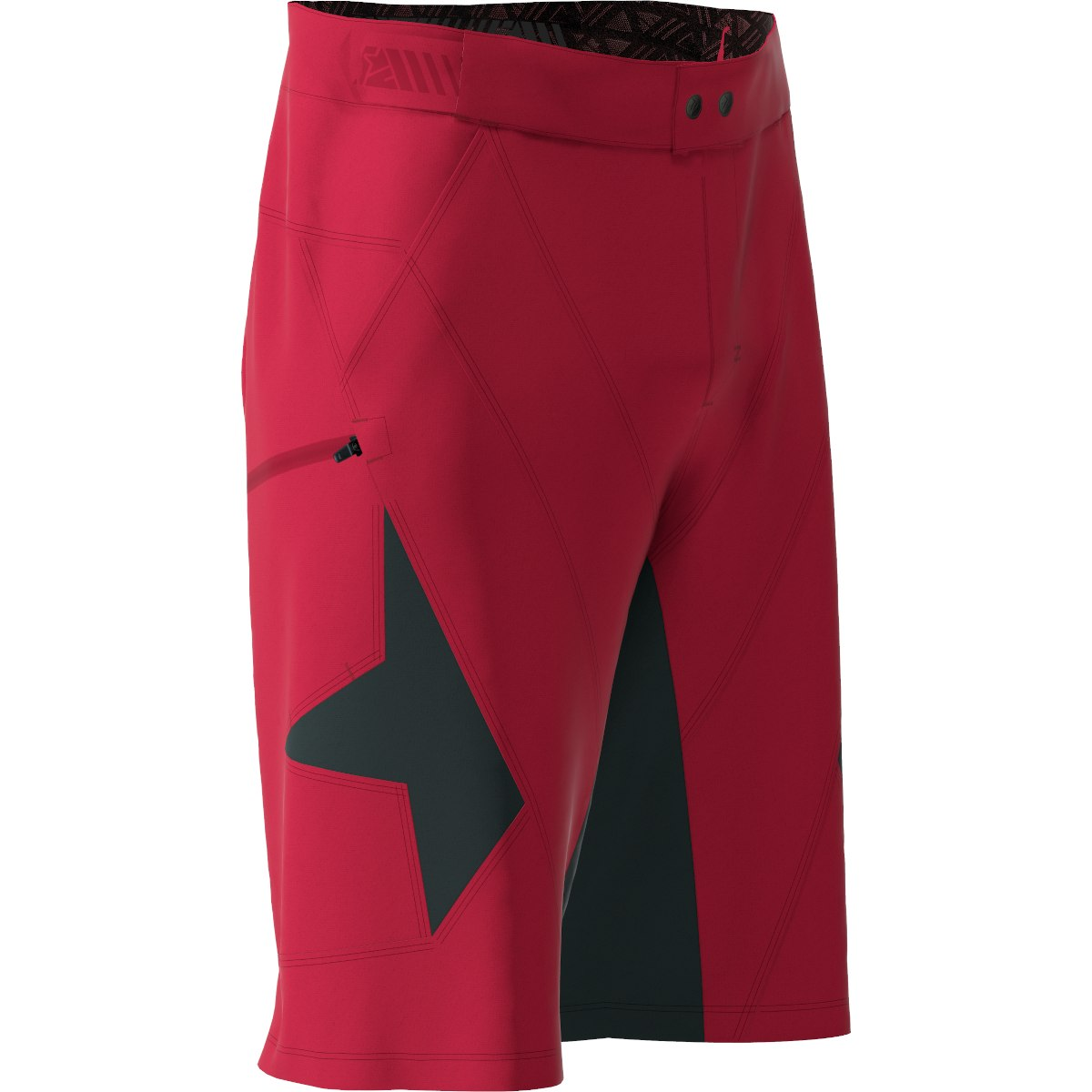 Image of Zimtstern Tauruz Evo MTB-Shorts - jester red/pirate black