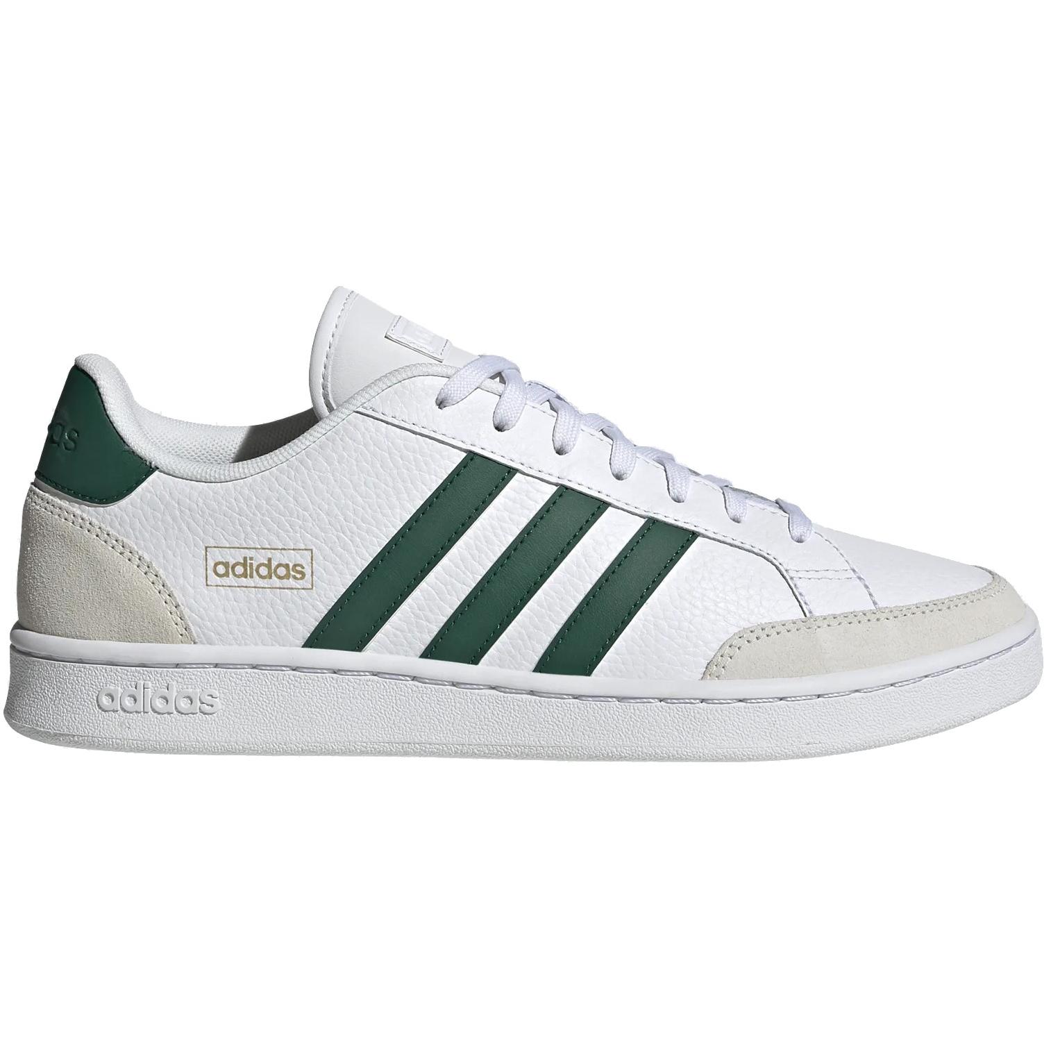 adidas Grand Court SE Shoes - cloud white/collegiate green/orbit grey FW6688