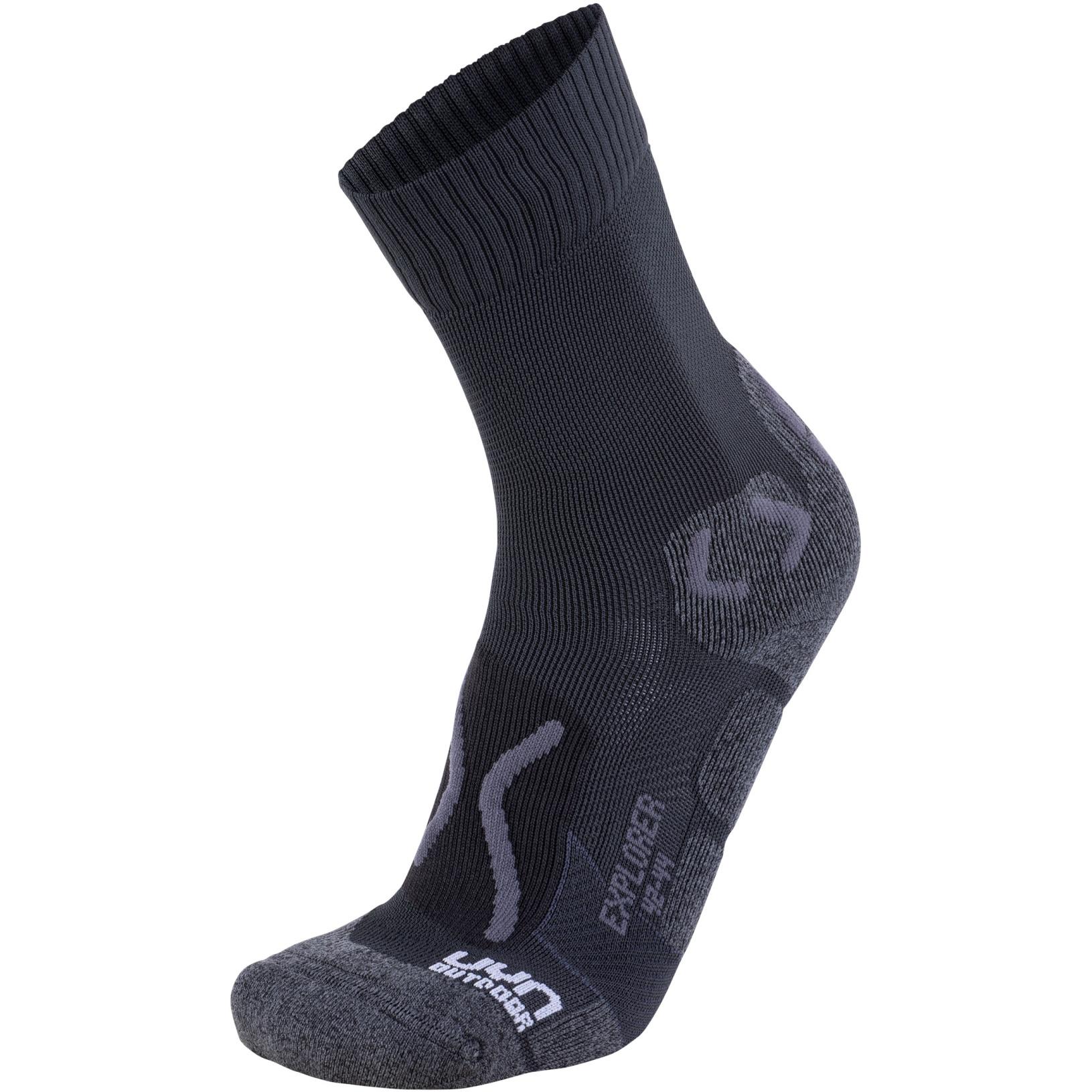 UYN Explorer Outdoor Socks - Black/Anthracite