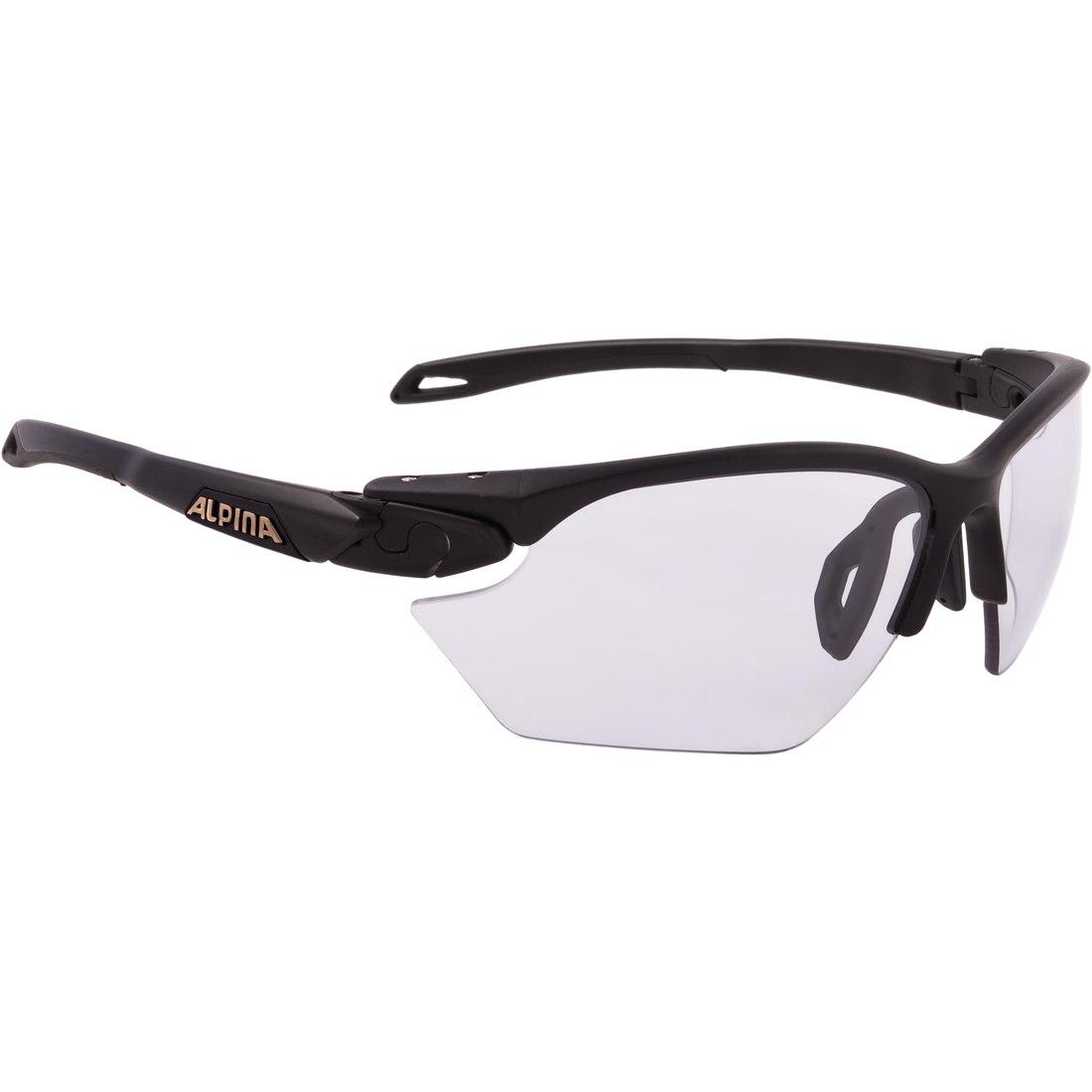 Alpina Twist Five HR S VL+ black matt/Varioflex black - Glasses