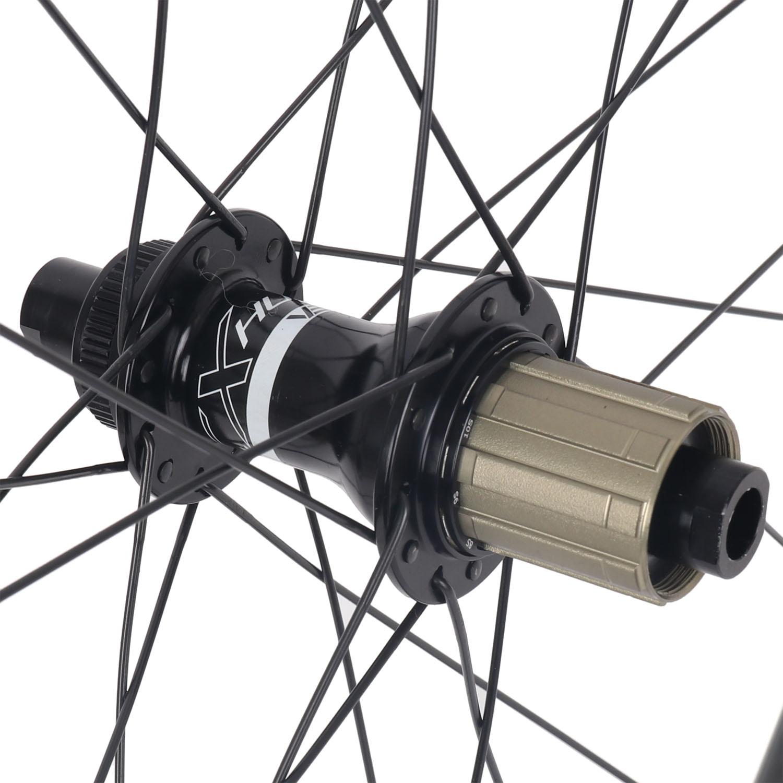 Bild von Veltec Speed 6.0 Disc Carbon Laufradsatz - Drahtreifen - 12x100mm / 12x142mm - schwarz mit weißen Decals