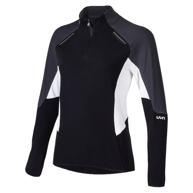 UYN Lady Evolutyon Half Zip Womens Jacket - Black/Charcoal/Off White
