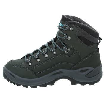 Image of LOWA Renegade GTX Mid Ws Women's Shoe - asphalt/turquoise