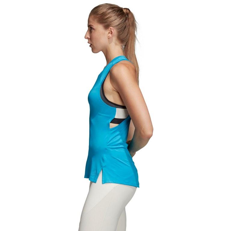 Image of adidas Women's Strap-Back Tank Top - shock cyan DU1311