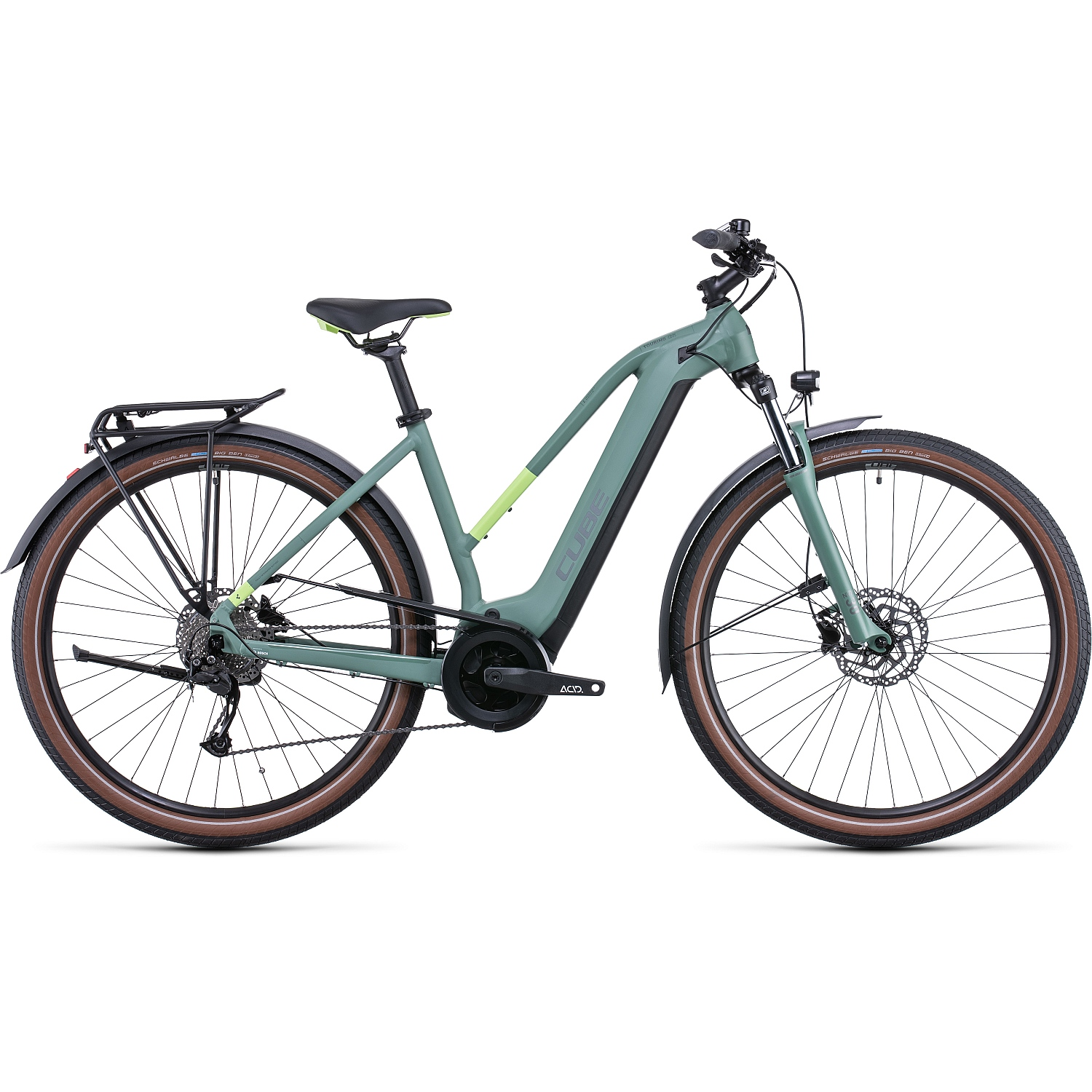 CUBE TOURING HYBRID ONE 625 - Bicicleta Eléctrica Mujer - 2022 - green/sharpgreen A00