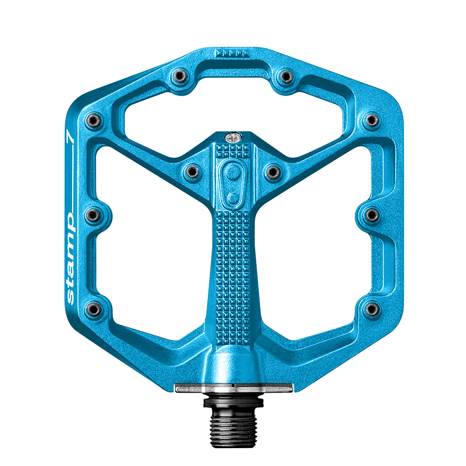 Picture of Crankbrothers Stamp 7 Small Flat Pedal - electric blue