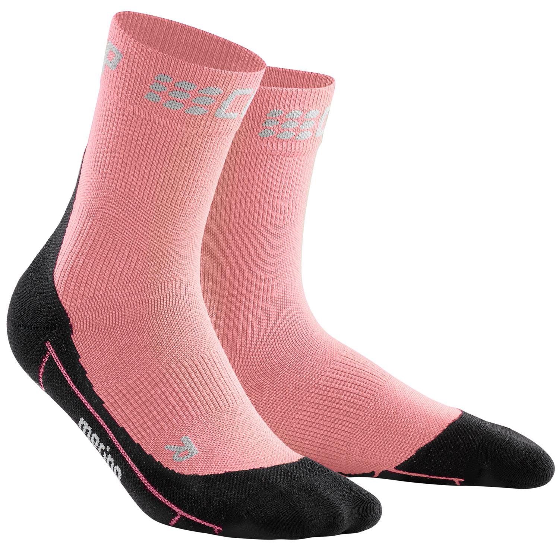Image of CEP Winter Short Compression Socks Women - light rose/black