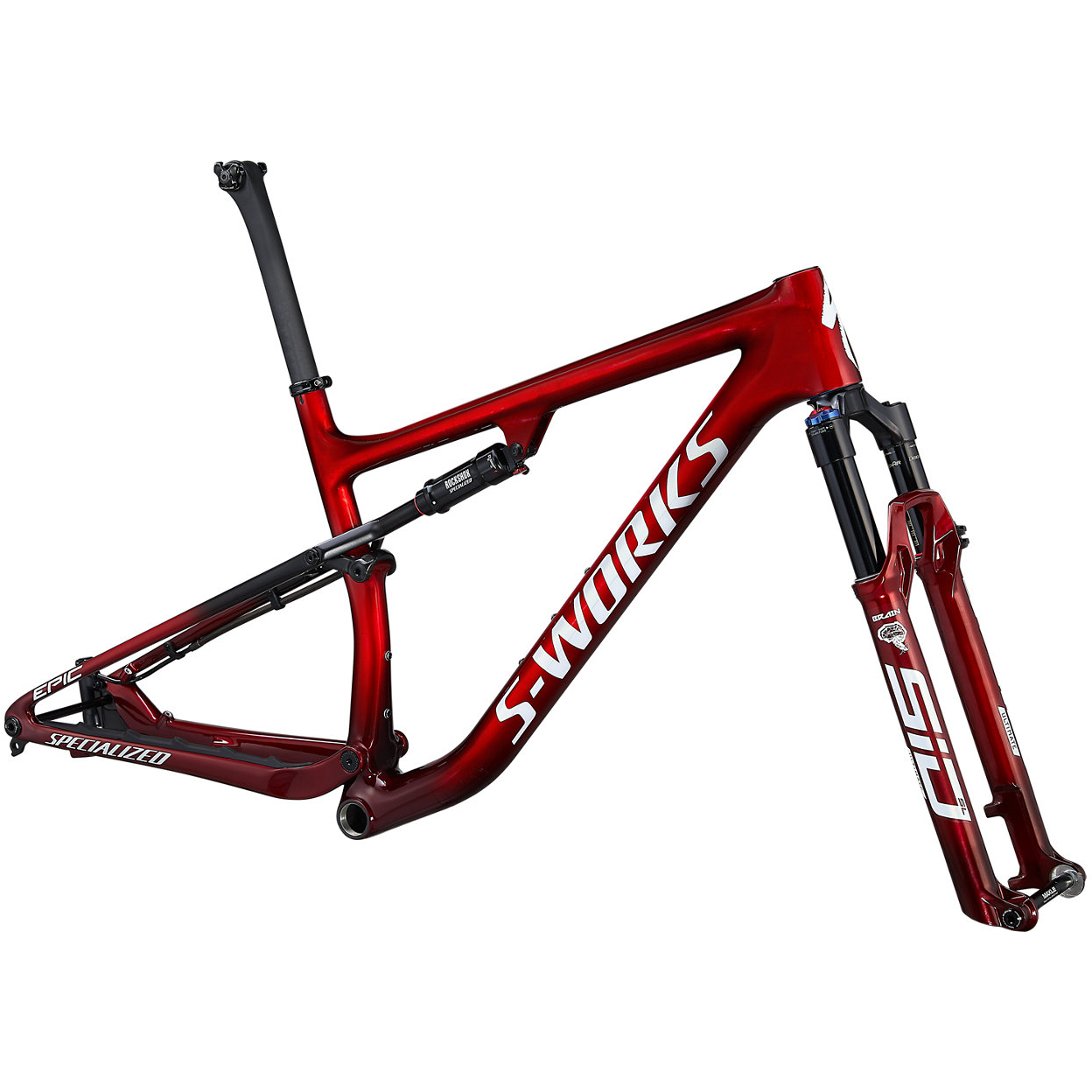 """Specialized S-WORKS EPIC - 29"""" Cuadro de montaña de Carbono - 2022 - gloss red tint / brushed silver / Tarmac black/white"""
