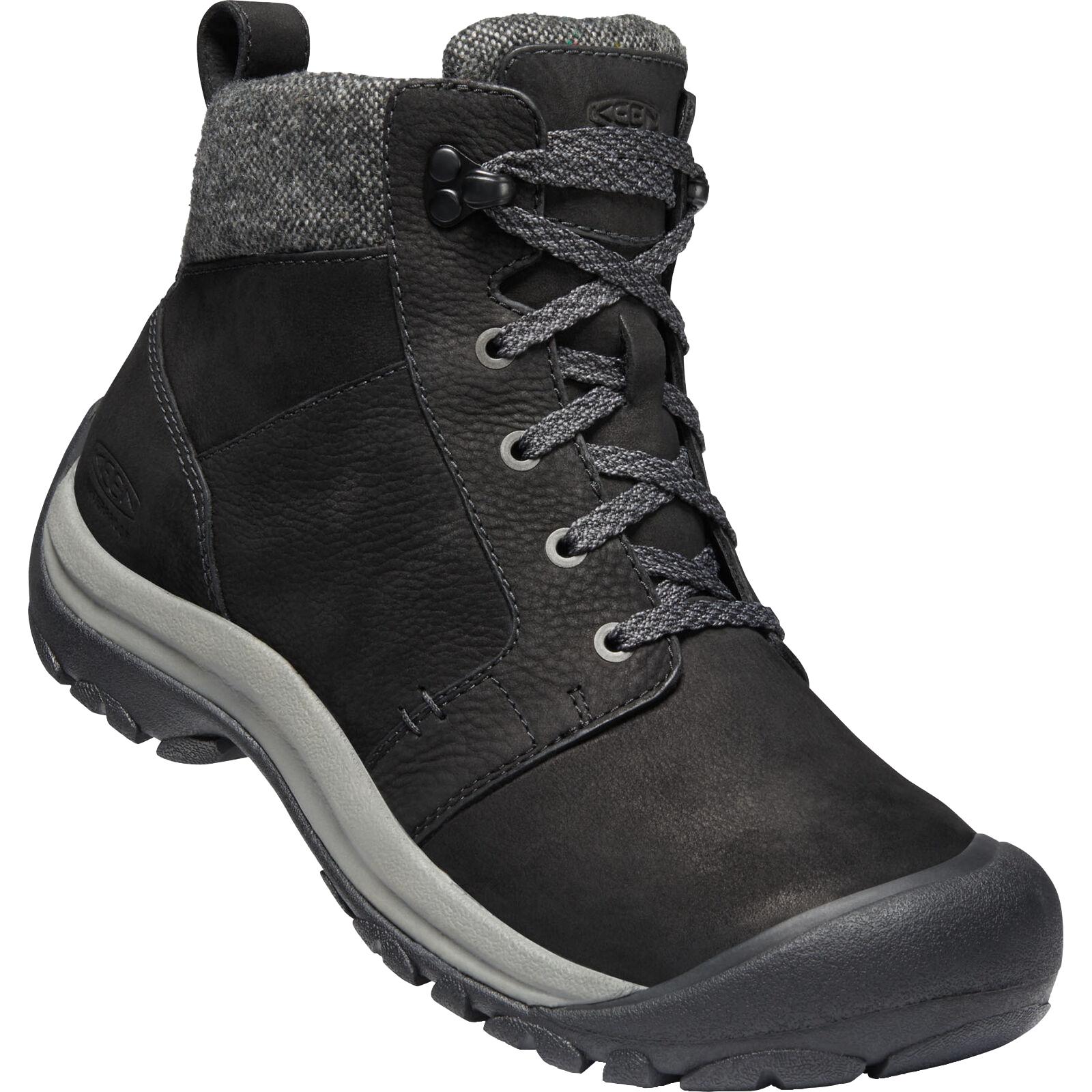 KEEN Kaci II Winter Mid Waterproof Women's Hiking Boots - Black / Steel Grey