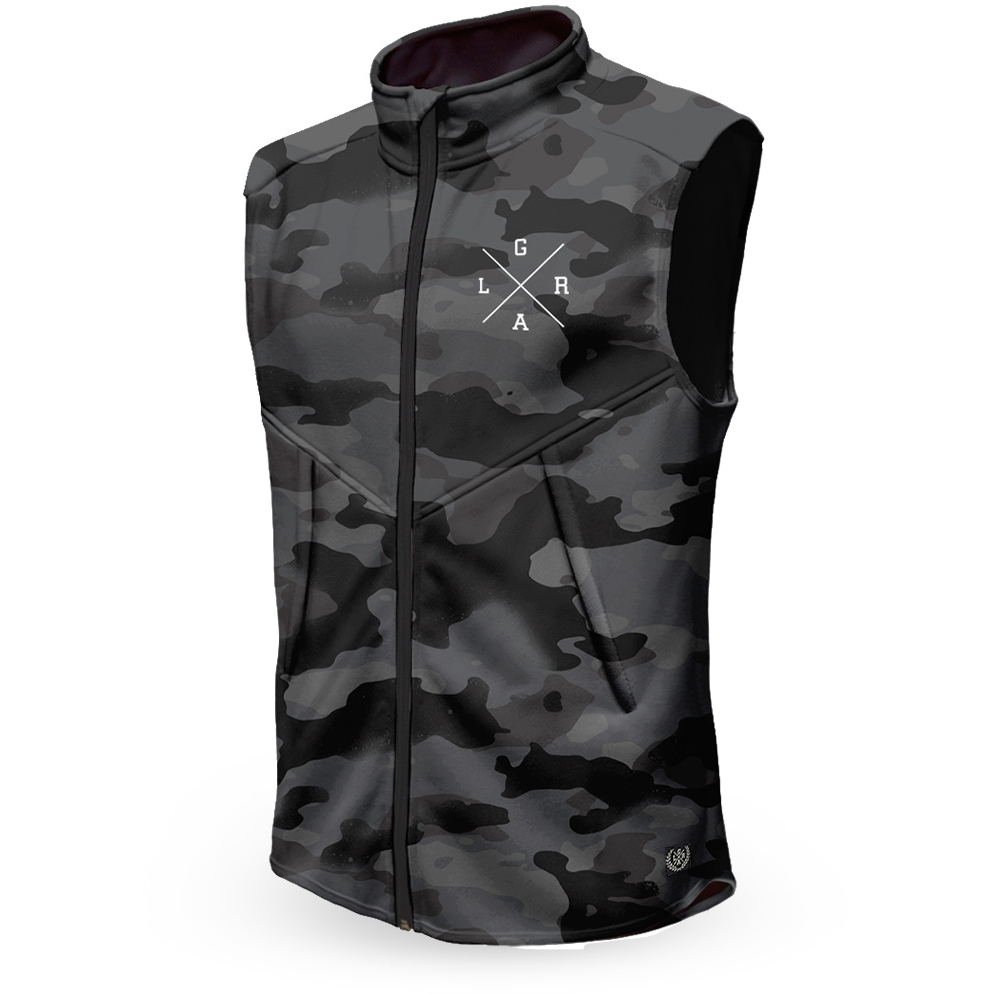 Loose Riders Technical Fleece Vest - Charcoal Camo