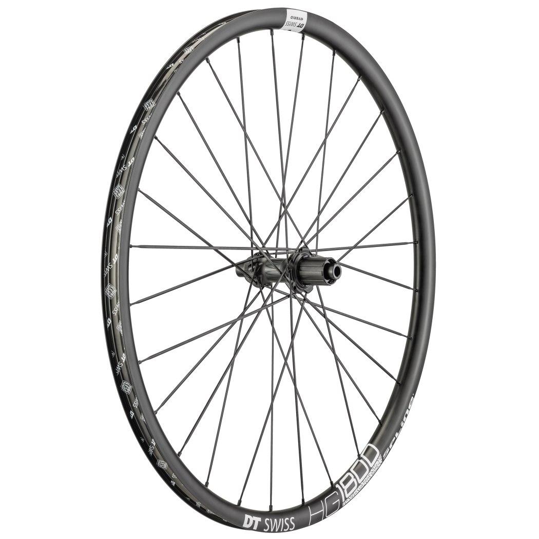 "Image of DT Swiss HG 1800 Spline Black db 25 - 29"" / 700C Rear Wheel - Clincher - Centerlock / 6 Bolt - 12x142mm"