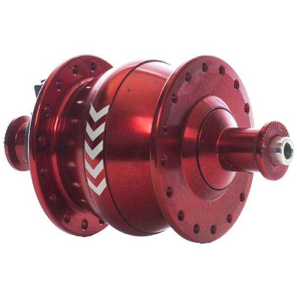 Image of Shutter Precision PV-8 Hub Dynamo - QR 9x100mm - red