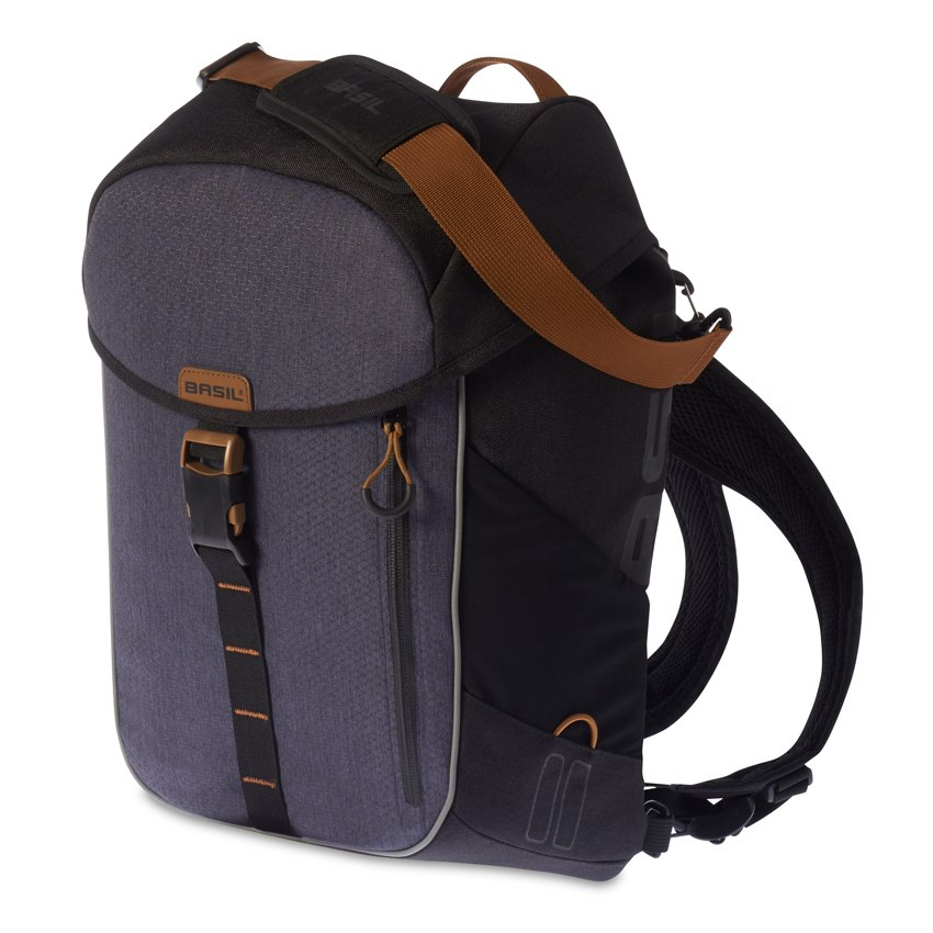 Basil Miles Daypack Bike Bag - black slate