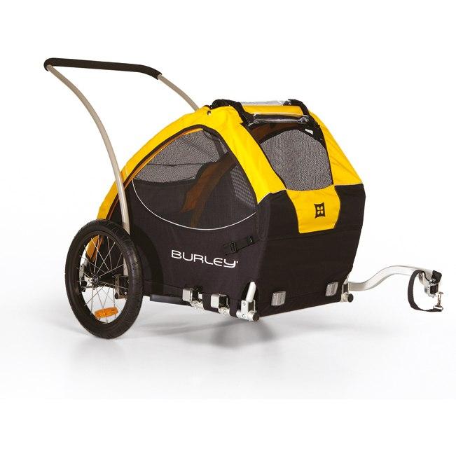 Foto de Burley Tail Wagon Remolque de bicicleta Para Perros - amarillo/negro