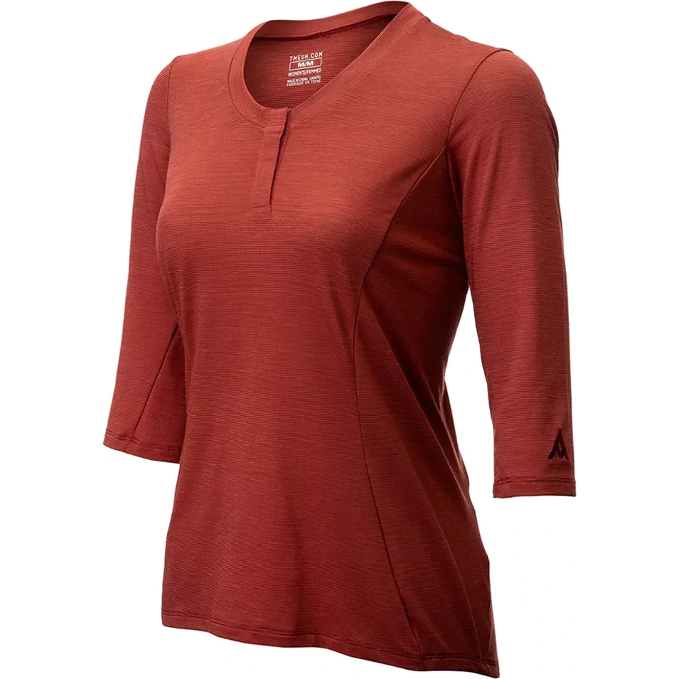 Imagen de 7mesh Desperado Merino Henley Camiseta para Mujer - pomegranate