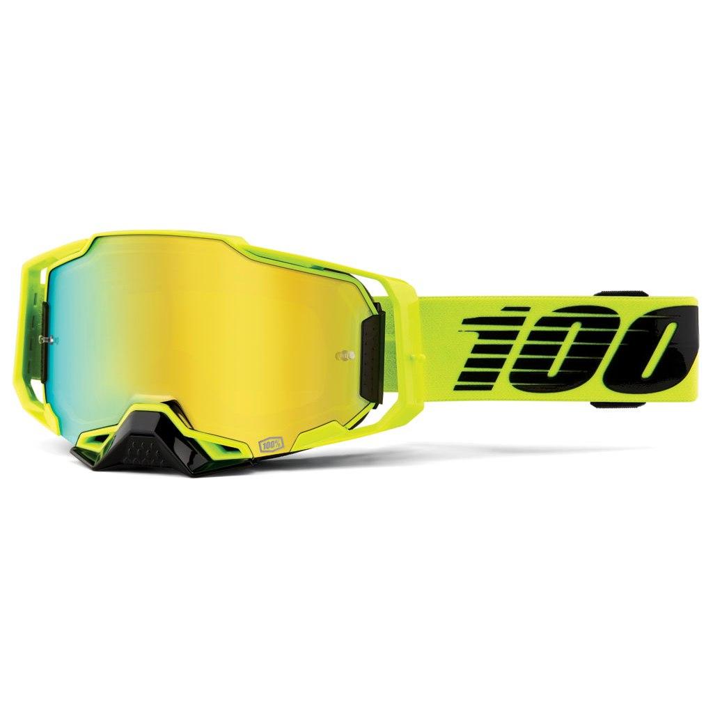 100% Armega Goggle Mirror Lens - Nuclear Citrus