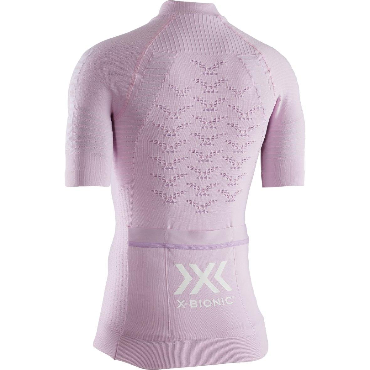 Bild von X-Bionic Effektor 4.0 Bike Full Zip Kurzarmtrikot für Damen - magnolia purple/arctic white